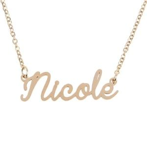 Jewelry - Nicole Gold Name Nameplate Necklace B25